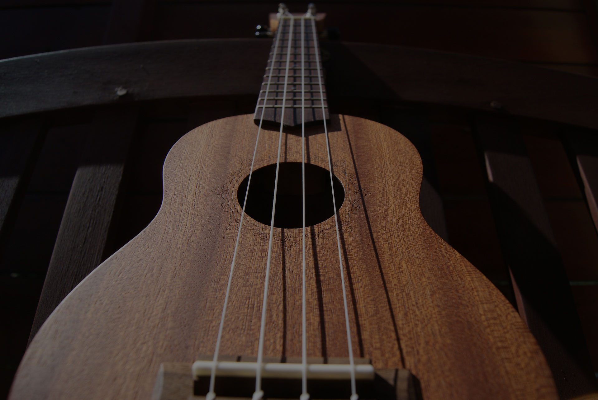 Ukulele music strings hollow wood